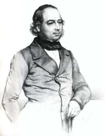 John Gould im Alter von 45 Jahren (T.H. Maguire)