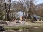 Nashornhaus von der Bantenganlage aus gesehen