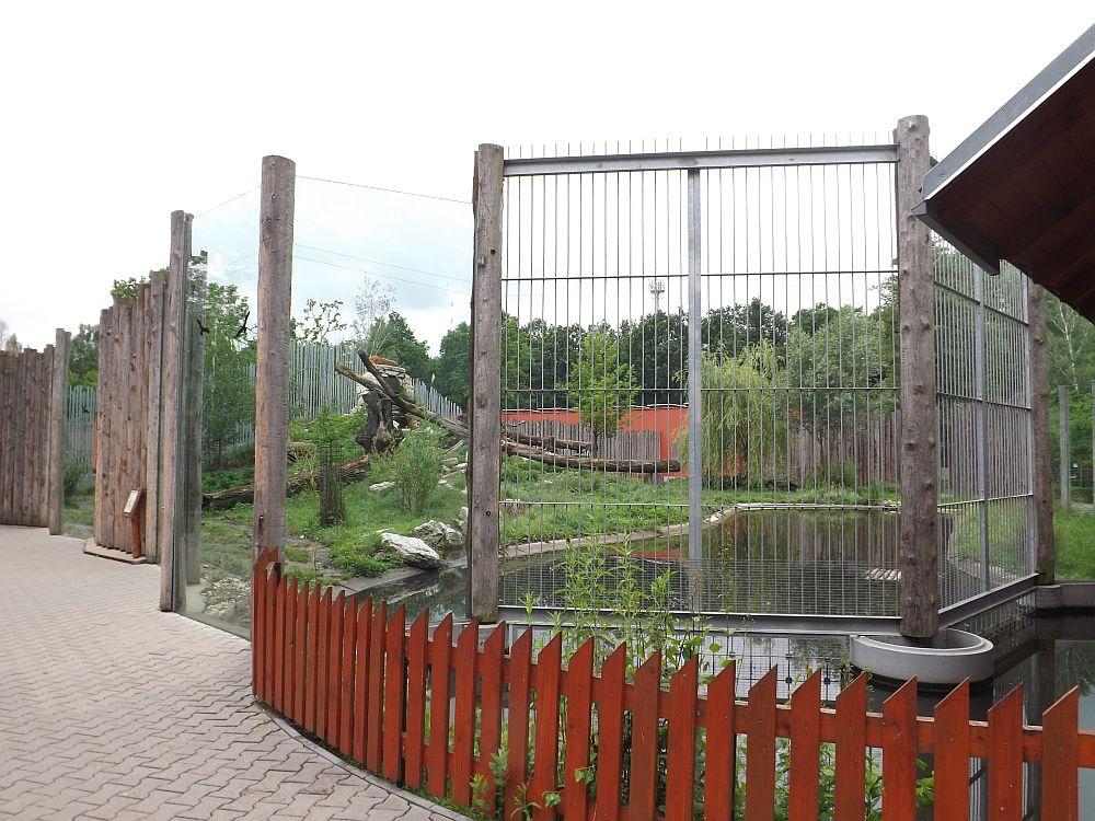 Tigergehege (Zoo Hodonin)