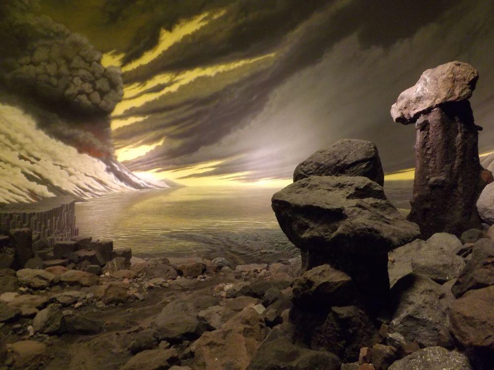 Diorama, Vor vier Milliardenjahren (Museum Mensch und Natur)