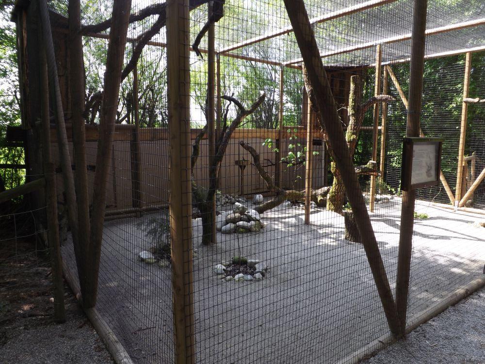 Neue Schneeeulenvoliere (Wildpark Poing)