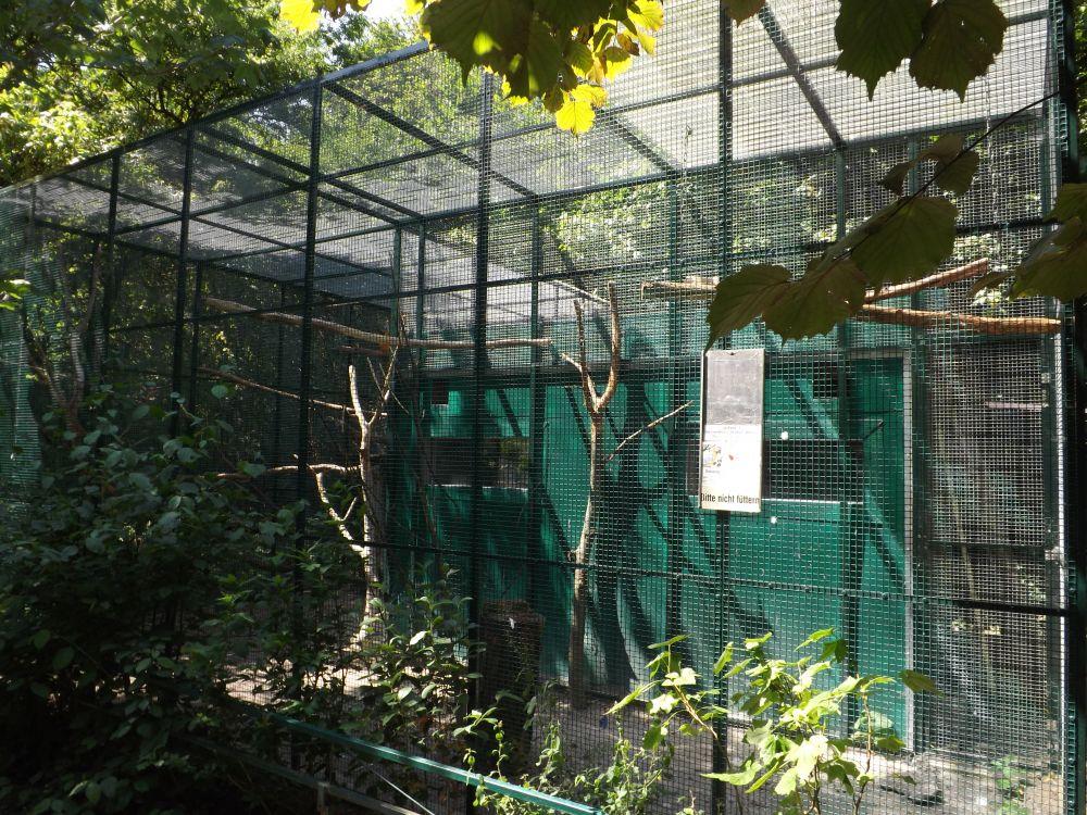 Voliere der Gelbbrustaras (Vogelpark Olching)