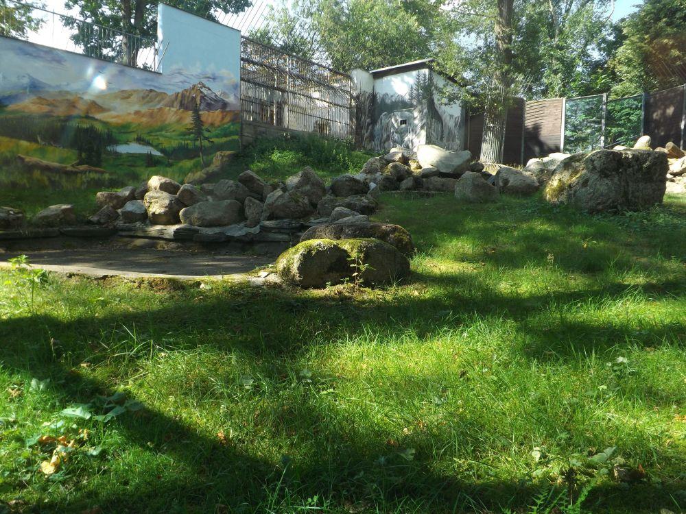 Bärenanlage von hinten (Tierpark Klingenthal)