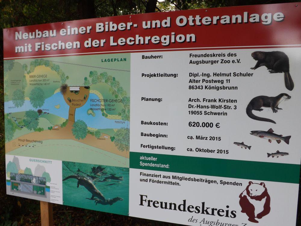 Plan der neuen Biberanlage (Zoo Augsburg)
