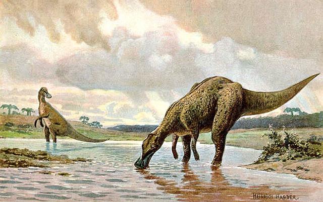 Hadrosaurier (Heinrich Harder)