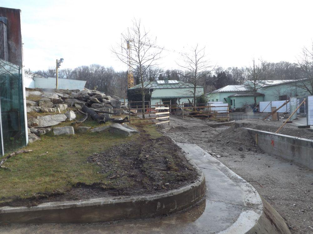 Außenanlage für Menschenaffen (Tierpark Hellabrunn)