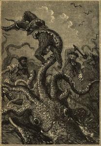 "Riesenkalmar aus ""20.000 Meilen unterdem Meer (Urheber mir unbekannt)"