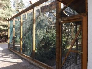 Gehege für Weißhandgibbons (Vogelpark Irgenöd)