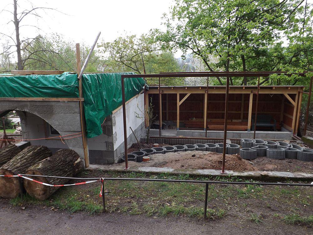 Baustelle: Nasenbärenanlage (Zoo der Minis)