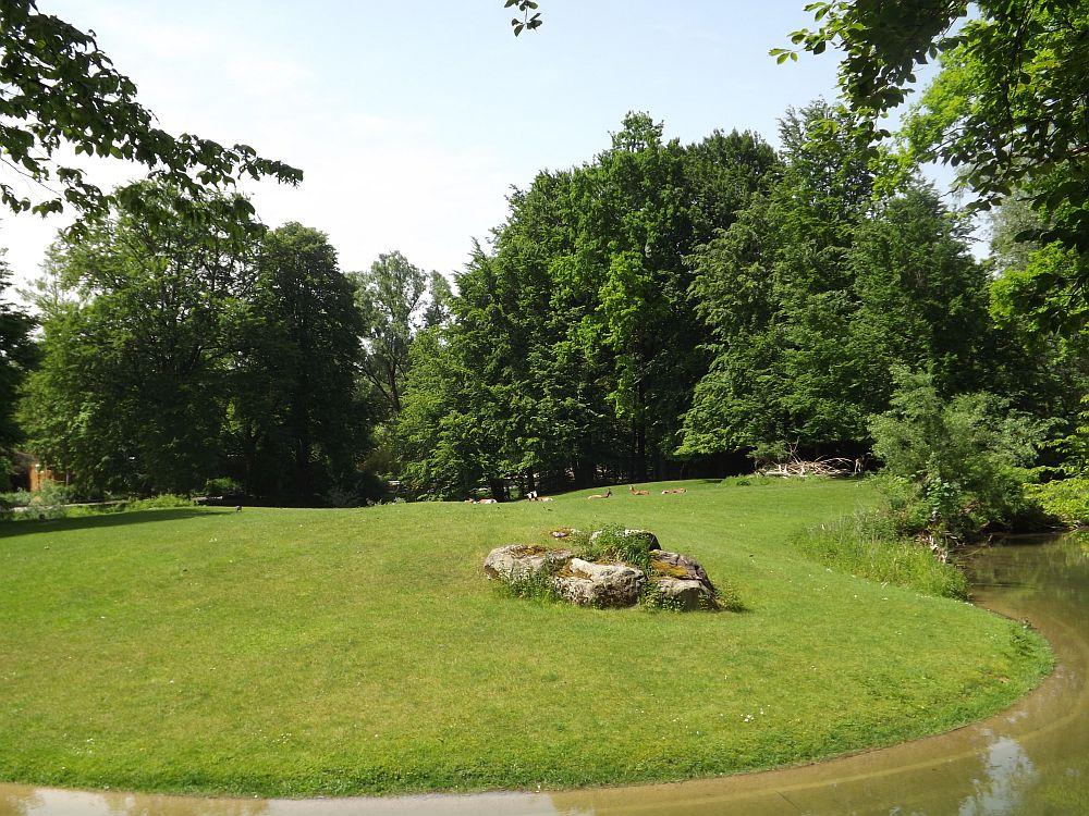 Anlage für Paradieskraniche und Mhorrgazellen (Tierpark Hellabrunn)