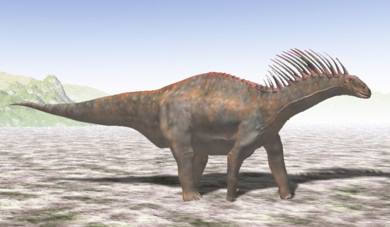 Amargasaurus cazaui (© N. Tamura)
