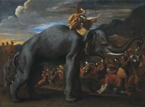 Hannibal traversant les Alpes à dos d'éléphant (Nicolas Poussin)