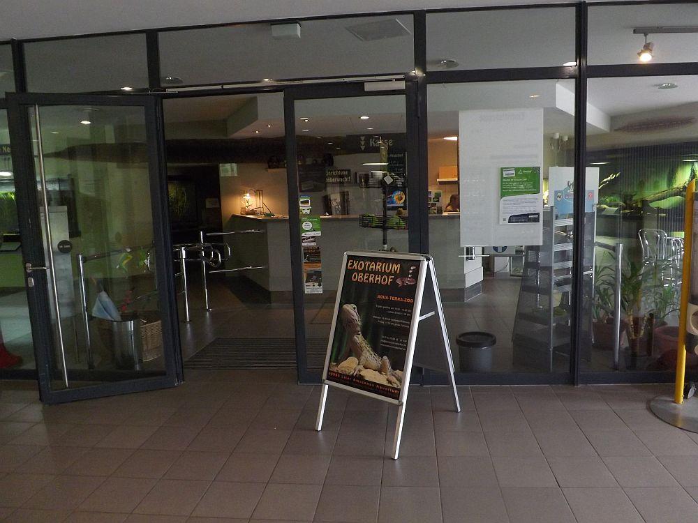 Eingang Exotarium Oberhof