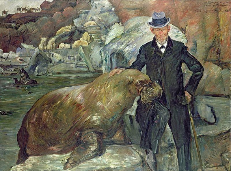 Carl Hagenbeck in seinem Tierpark (Lovis Corinth1911)