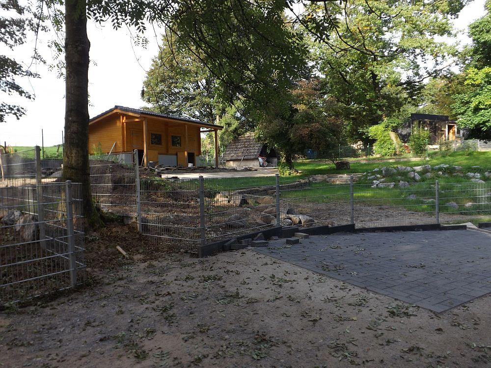 Baustelle der Streicheltiere (Tierpark Fauna)