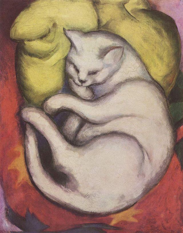 Die weiße Katze (Franz Marc)