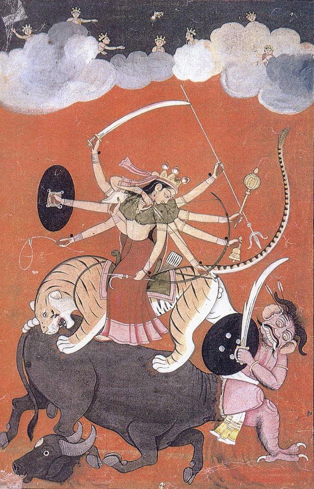 Durga besiegt Mahisasura