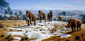 """Eiszeit im nördlichen Spanien (Mauricio Antón,  """"What Killed the Woolly Mammoth?"""". PLoS Biology 6 (4): e99. DOI:10.1371/journal.pbio.0060099)"""