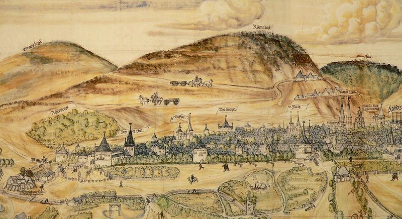 Bildkarte von Goslar und dem Rammelsberg (1574, Matz Sincken)