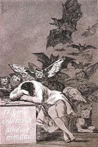 El sueño de la razón produce monstruos (Goya)