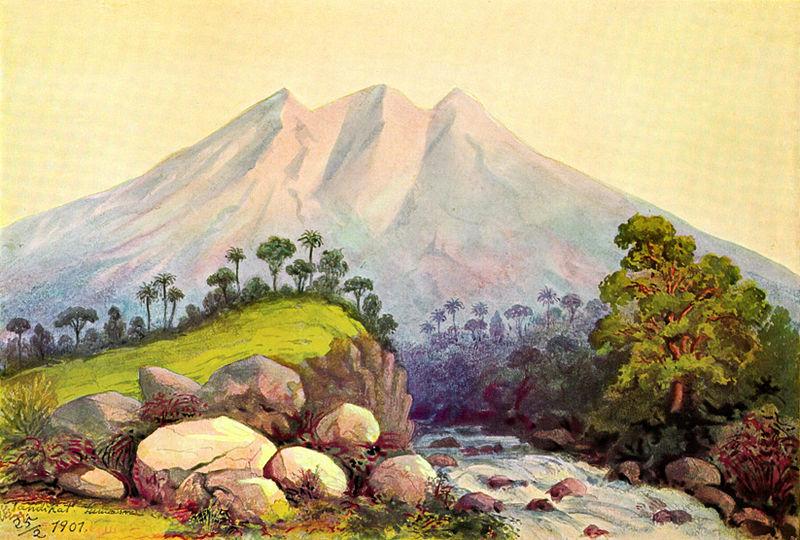 Vulkan Tandikat (Ernst Haeckel)