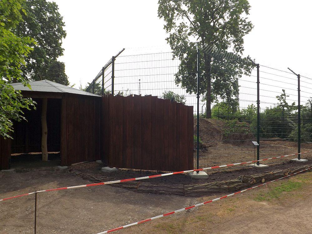 Baustelle Kleinkatzenanlage (Tierpark Dessau)