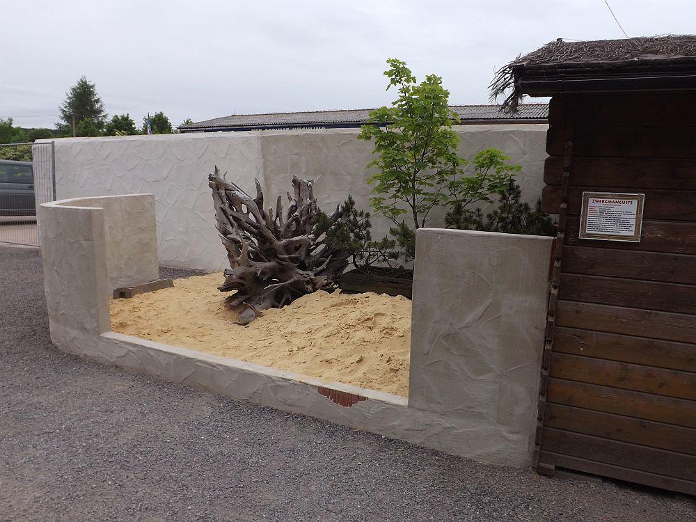 Zwergmangustenanlage im Bau (Erlebnistierpark Memleben)