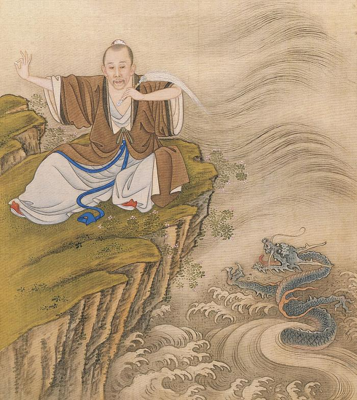The Emperor depicted as a Taoist magician