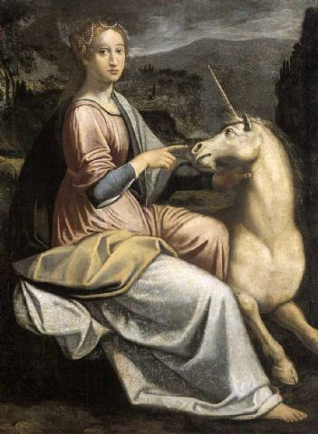 Dama con l'unicorno (Barbara Longhi)