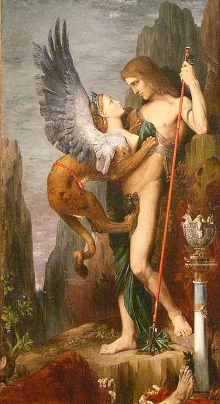 Oedipus und die Sphinx (Gustave Moreau)
