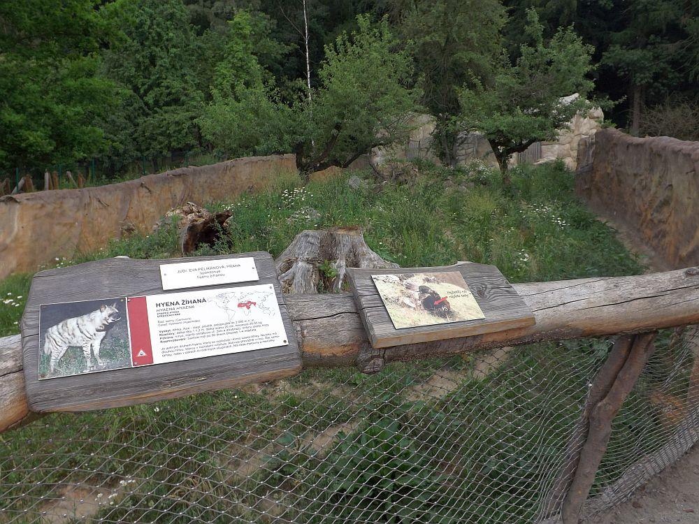 Hyänenanlage (Zoo Jihlava)