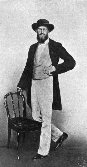 A.R. Wallace, aufgenommen 1862 in Singapur
