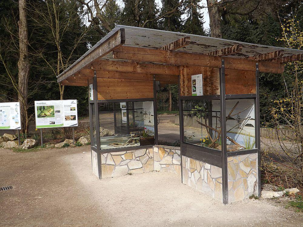 Freiterrarien für Amphibien (Zoo Augsburg)