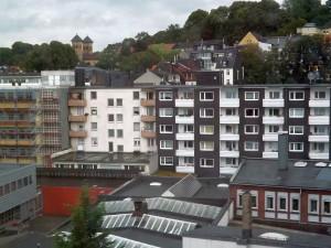 Blick aus dem IBIS-Hotel in Wuppertal