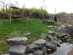Außenanlage der Bambusbären (Pairi Daiza)