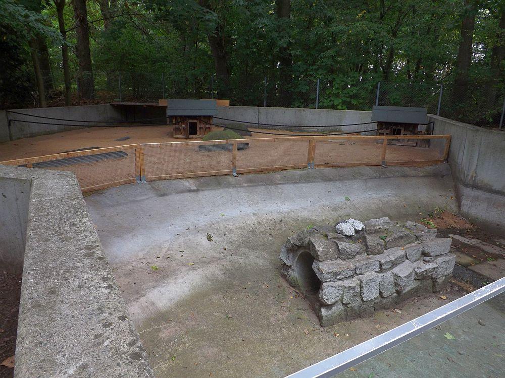 Baustelle Stachelschweinanlage (Zoologischer Garten Hof)