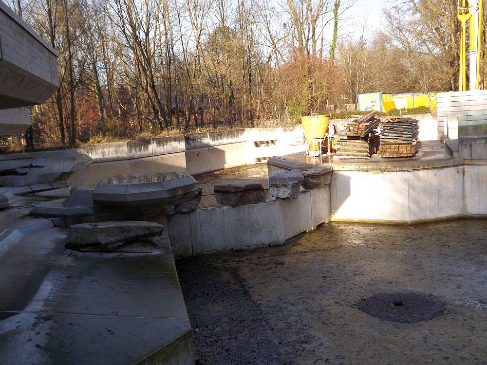 Baustelle Mähnenrobbenanlage (Tierpark Hellabrunn)