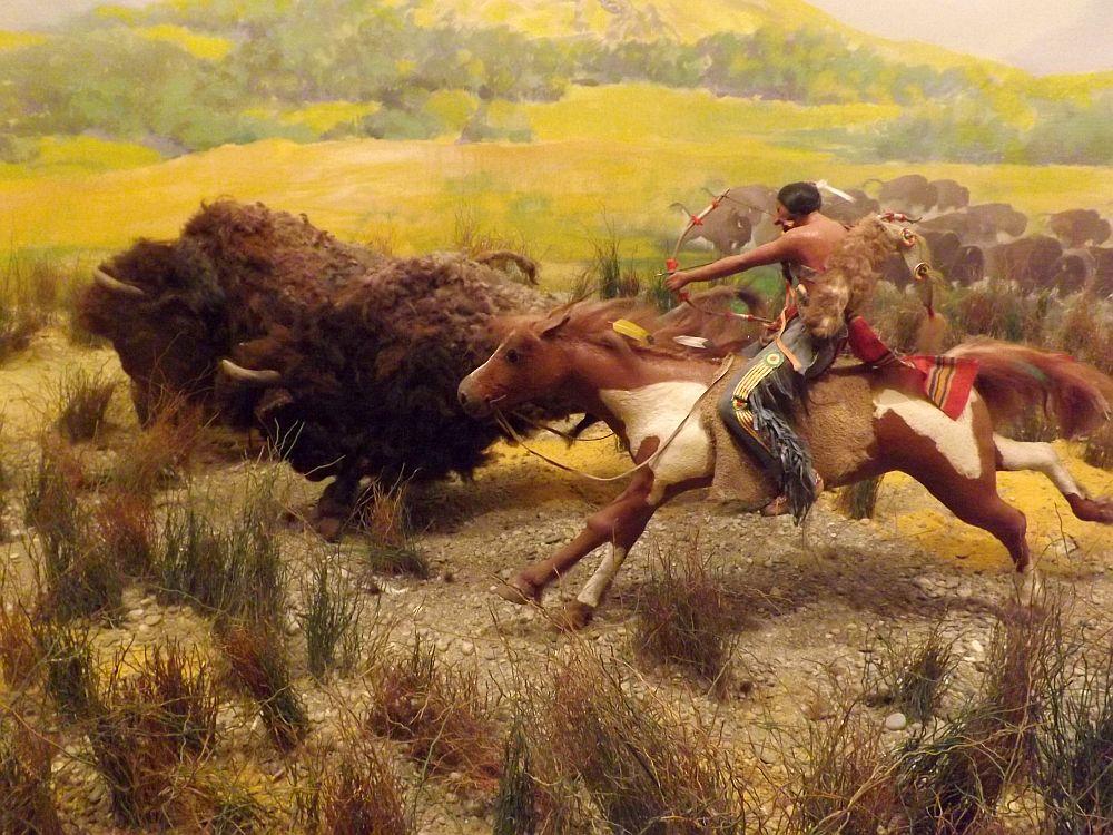 Indianer bei der Bisonjagd (Haus der Natur, Salzburg)