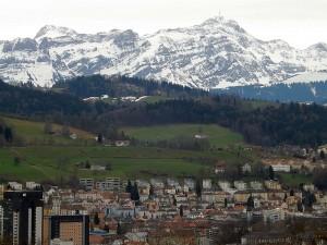 Blick auf St. Gallen und Umgebung vom WIldpark Peter und Paul aus gesehen