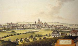 Königl. Kreisstadt Pilsen nach Georg Döbler gemahlt von Joann Venuto, 1816