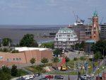 Blick vom Klimahaus Bremerhaven