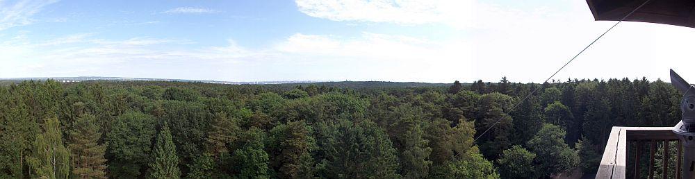 Blick vom Elbblicktum (Wildpark Schwarze Berge)