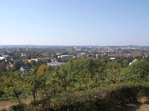 Crailsheim vom Vogelpark aus gesehen