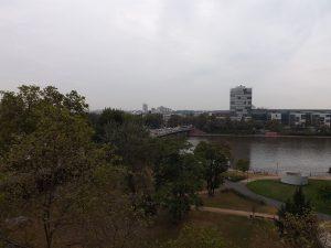 Blick aus dem Hotel in Frankfurt