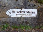Wegweiser zum 19-Lachter-Stollen