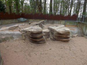 Stachelschweinanlage in der Winterruhe (Zoologischer Garten Hof)