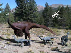 Ornithomimus edmontonicus (© N. Tamura)
