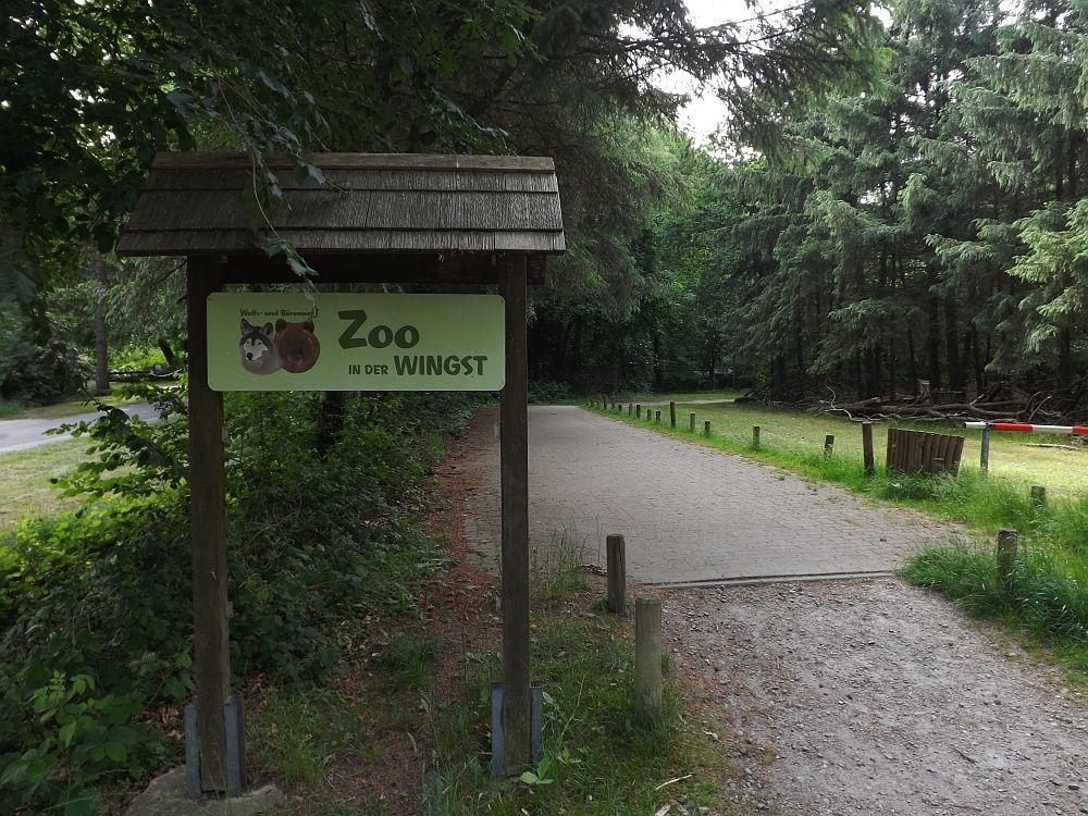 Weg zum Bärenwald (Zoo in der Wingst)