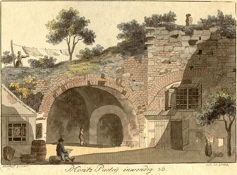 Die Moritzbastei Leipzig um das Jahr 1785
