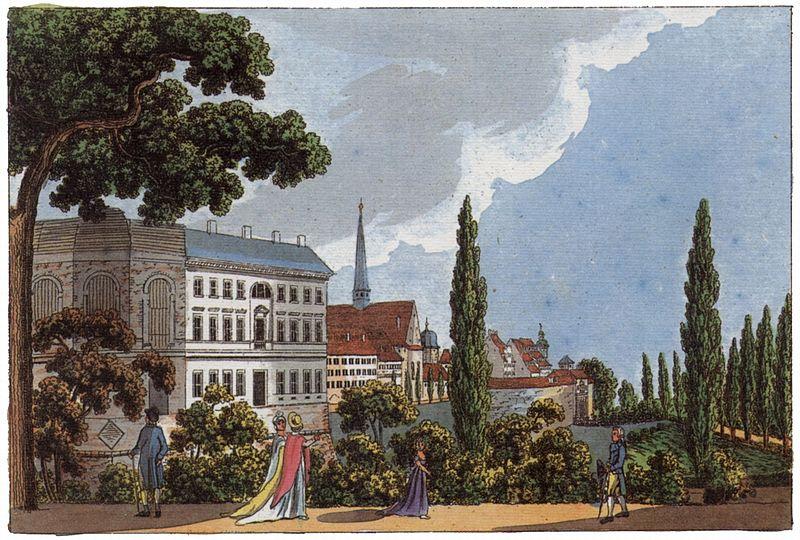 Bürgerschule auf der Moritzbastei in Leipzig, 1804 (im Bau)